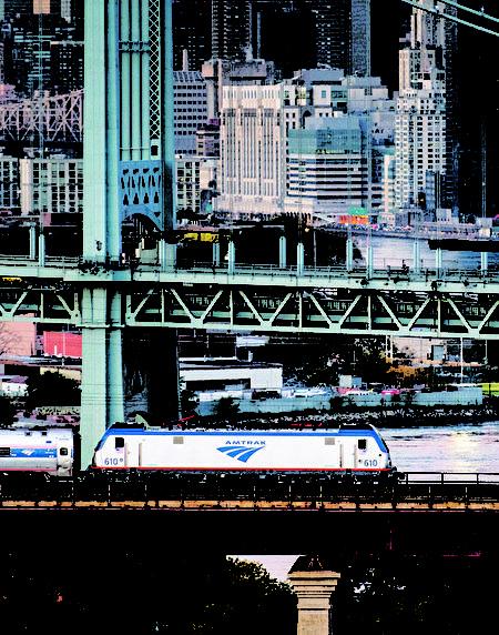 Amtrak全称是美国国家铁路客运公司,简称美国国铁(Amtrak提供)