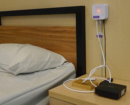 美思公司「臥床照護系統」,藉由病床內的感應模組,結合智慧演算法,以目視化、可追蹤、與即時提醒的方式、有效協助護理人員針對高危險跌倒族群、及高褥瘡發生族群。(方金媛/大紀元)