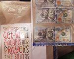 嫌犯在第三次見面時提供給臥底的信封,裡面有300美元。 (紐約市調查局)