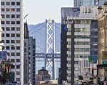 旧金山、纽约、洛杉矶属于美国地产的龙头地位,但房市的起伏规律都非常相似。图为旧金山市一景。(Shutterstock)