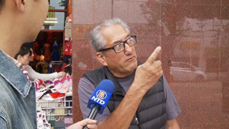 唐人街居民 Manuel Vasques。(杨阳/大纪元)