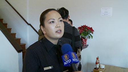 洛杉磯市警局警員Jenny Houser。(楊陽/大紀元)