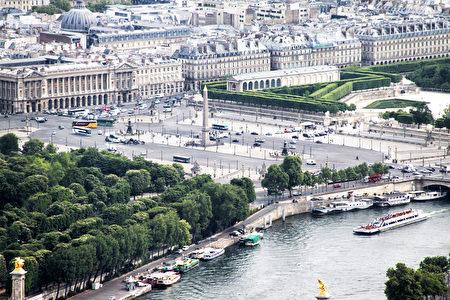 從艾非爾鐵塔俯瞰巴黎協和廣場(公共領域)