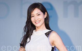 艺人Janet(谢怡芬)12月7日在台北出席美妆活动。(陈柏州/大纪元)