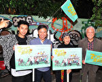 台视新剧《700岁旅程》昨(10)日举办桃园、台中见面会。图左起:邱凯伟、朱陆豪、林乃华、唐川。(台视提供)