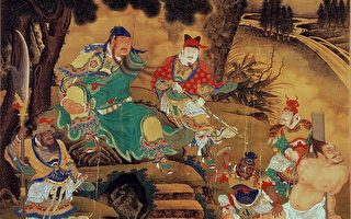 明代绘画,描绘关羽抓住庞德。(维基百科公有领域)