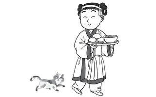 冬至那天,家里的大人赶紧起床,煮出一大锅馄饨,与蒸好的馒头或米饭放到一个木盘里,指派小儿女向各家各户分送。(《过一个欢乐的宋朝新年》/时报出版提供)