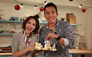 艾力克斯(右)与钟欣怡日前亲上《美味生活:一秒变大厨》全球华人直播料理节目,大谈孩子经。(美味生活提供)
