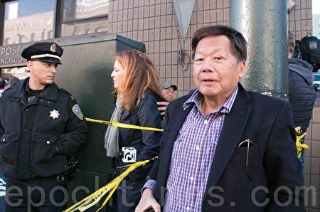 轿车撞歪旧金山唐人街公车站台 10伤者被送医治疗