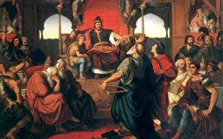 Mór Than作品《阿提拉的飲宴》(維基百科公有領域)