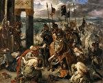 拉克洛瓦作品《十字軍進入君士坦丁堡》(維基百科公有領域)