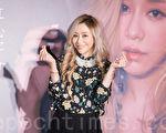 艺人蓝又时12月27日在台北出席公益活动。(陈柏州/大纪元)