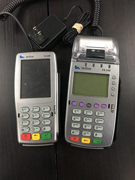 小林泰絵子5,000美元换来的刷卡机。(刘菲/大纪元)