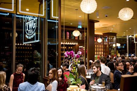 圖:TWG Tea溫哥華旗艦店盛大開張當天,城中名人傳媒齊聚。(圖片由TWG Tea提供)