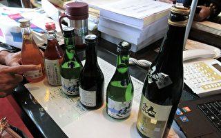 台中市超黨派議員再爆,在中友、SOGO百貨可買到日本福島縣的酒品。(黃玉燕/大紀元)