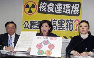 為抗議日本核災地區食品可能進口,國民黨16日宣布發起「核食不禁,不見不散」活動,25日號召萬人集結自由廣場表達心聲。(中央社/提供)