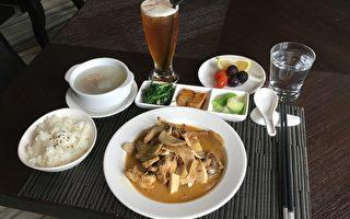 双橡园开发在F1社区推出麻油鸡特餐,马上成为住户的最爱菜色。(建商提供)