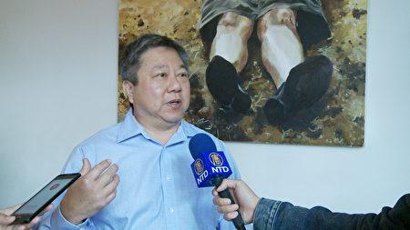 華埠商業發展區執行主任于千。(楊陽/大紀元)