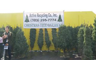 回收站內的聖誕老人:收廢品換聖誕樹
