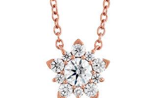 AERIAL CLUSTER玫瑰金鑽石項鍊(TMJ商家提供)