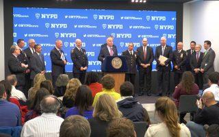 纽约市警察局长奥尼尔宣布今年跨年夜的保安规划。 (韩瑞/大纪元)