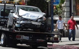 警方表示,今后发生撞车时,当事各方可以更快获得事故报告。 (MARK RALSTON/AFP/Getty Images)