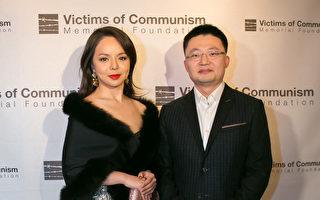 《血刃》导演李云翔和女主演林耶凡出席12月14日在华盛顿D.C.的首映会。(李莎/大纪元)