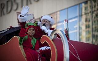 组图:温哥华圣诞大游行带来节日气氛