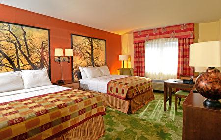 新落成的旅馆分两翼,共有160间客房。(迦南谷渡假村提供)
