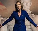 卡莉•菲奥莉娜(Carly Fiorina)据报导是川普的国家情报总监人选之一。她周一(12月12日)会晤了候任总统,说两人在讨论中认为中共可能是美国最重要的对手。(Sean Rayford/Getty Images)