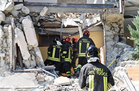 8月24日,意大利中部发生规模6.2地震。(Giuseppe Bellini/Getty Images)