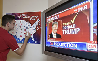 美國538位選舉人將在週一(19日)投票,最終確定2017年美國總統及副總統人選。由於川普在11月9日的大選中,已贏得306張選舉人團票,超過當選所需的270張,他的勝出已成定局。       (RHONA WISE/AFP/Getty Images)