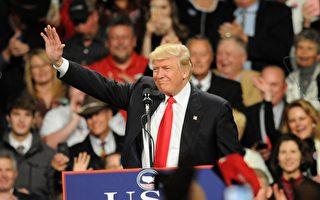 週四(12月8日),美國當選總統川普在愛奧華州的集會上呼籲改善中美關係。(Steve Pope/Getty Images)