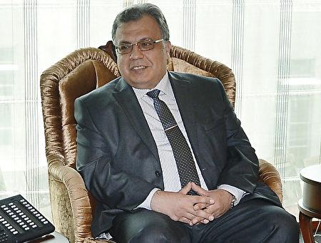 卡罗夫从1976年开始他的外交生涯,并在2013年成为土耳其大使。(DEPO PHOTOS/AFP/Getty Images)