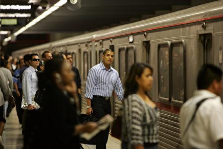 洛杉磯地鐵。(David McNew/Getty Images)