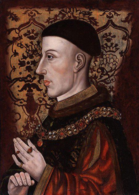 《亨利五世》(Henry V)畫像 (維基百科公共領域)