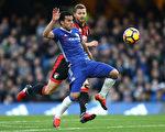 佩德罗梅开二度,助切尔西主场3:0轻取伯恩茅斯。 (Clive Rose/Getty Images)