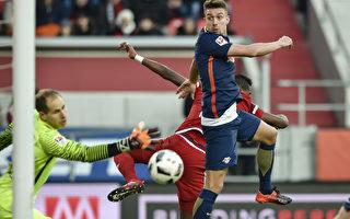 德甲第14輪:萊比錫遭首敗 痛失積分榜首