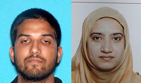 圣贝纳迪诺枪击案枪手Syed Farook和妻子Tashfeen Malik. (Photo by FBI via Getty Images)