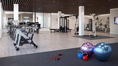 业主会所内有设备齐全的健身房,并且提供礼宾服务。