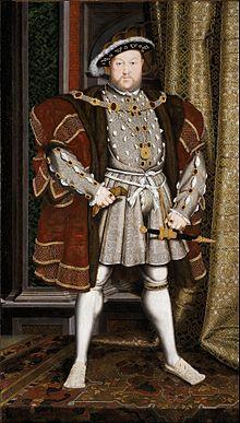 《亨利八世》(Henry VIII)畫像 (維基百科公共領域)