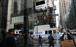 川普大廈已經成為小白宮,給曼哈頓中城交通添堵,也給紐約市帶來財政壓力。 (Spencer Platt/Getty Images)