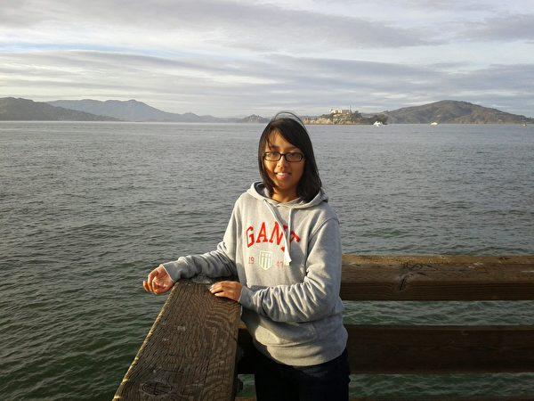 姚遠鷹剛到美國時,在漁人碼頭留影。(姚遠鷹提供)