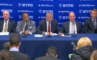 纽约市11月份犯罪数据报告的记者会。 (庄翊晨/大纪元)