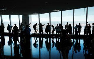 游客涌入和居民增加,令世贸圈生活质量下降。 (Spencer Platt/Getty Images)