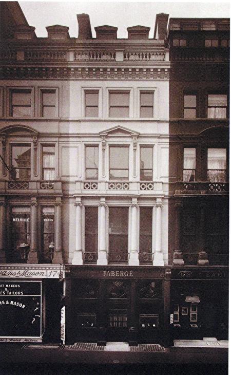 旧时法贝热在伦敦梅费尔Mayfair珠宝区中心的旗舰店,Geza_Von_Habsburg提供。