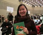 年轻的陈宝蓝(Paula Chen)女士是一名医生。她观看1月8日晚的神韵演出后,称赞演出传递和平、包容。(梁耀/大纪元)