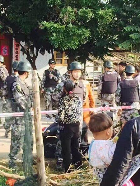 1月份以来,广西北海市白虎头村遭遇强拆。(受访者提供)