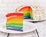 可口彩虹蛋糕。(fotolia)
