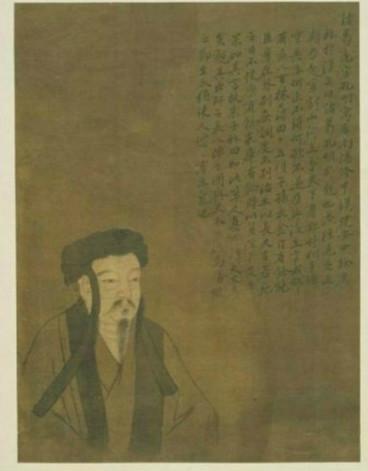 诸葛亮像,清故宫南薰殿旧藏历代圣贤画像,纸本设色,今藏台北故宫博物院。(公有领域)